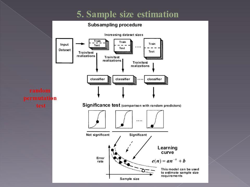 5. Sample size estimation random permutation test