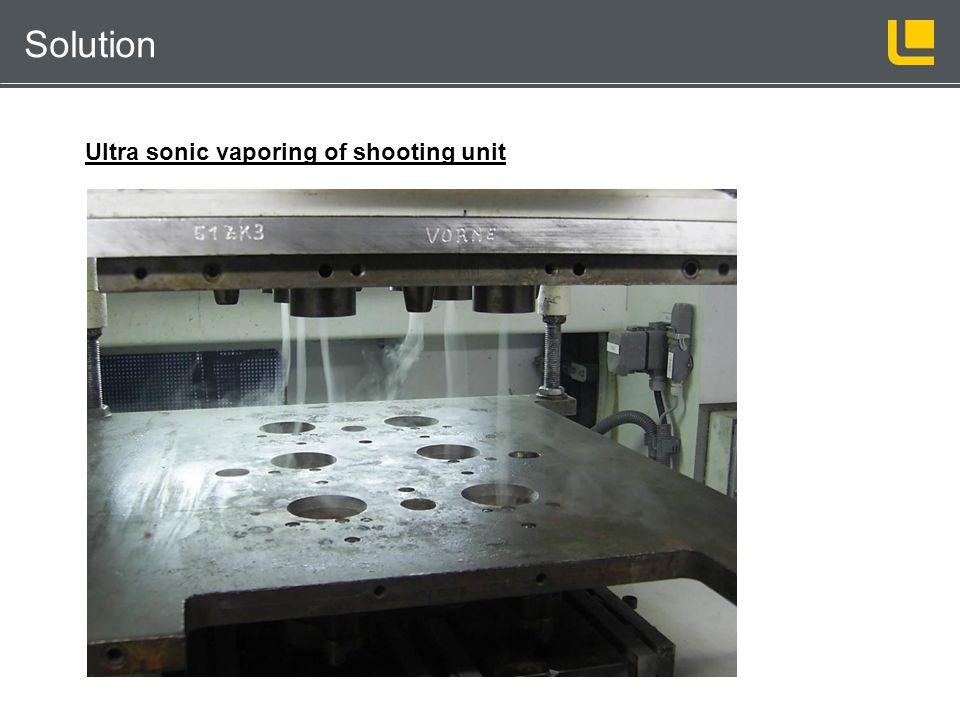 Kernschießmaschinentechnik Solution Ultra sonic vaporing of shooting unit