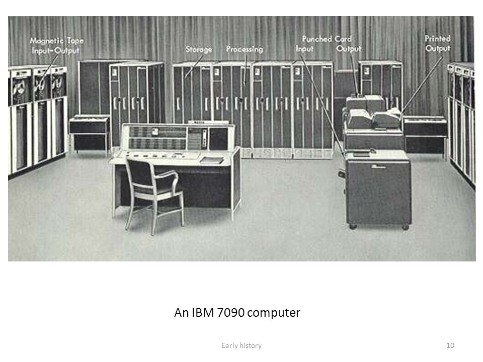 10 An IBM 7090 computer Early history