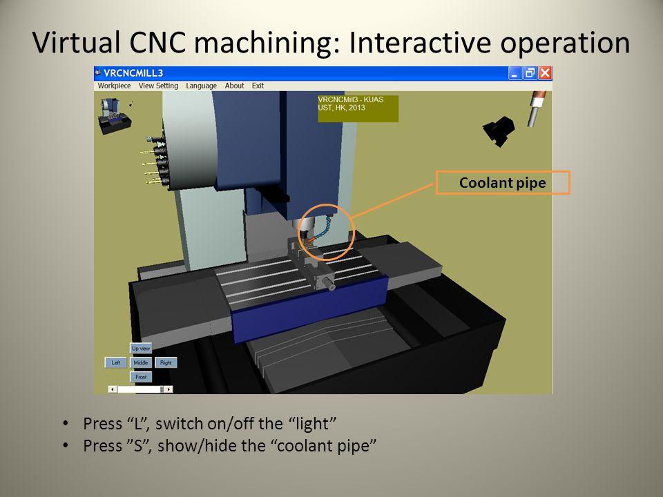 Virtual CNC machining: Controller operation Hand wheel Home return light Emergency stop knob Over travel alarm Single block switch Default operation modes