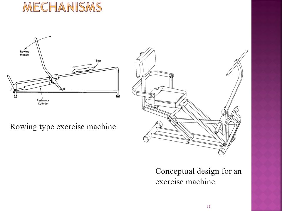 11 Rowing type exercise machine Conceptual design for an exercise machine