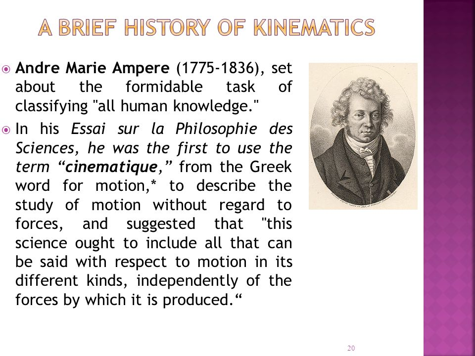 Andre Marie Ampere (1775-1836), set about the formidable task of classifying