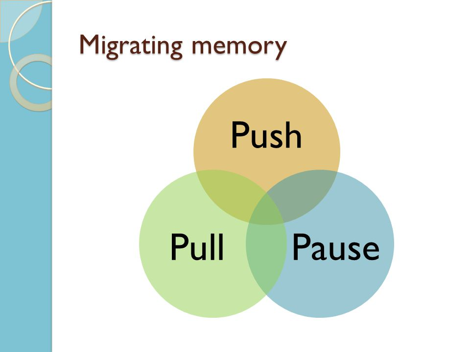 Migrating memory Push PausePull