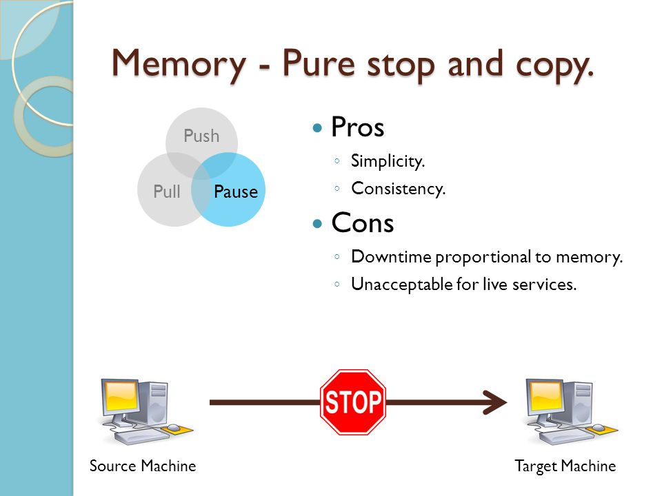 Memory - Pure stop and copy. Pros Simplicity. Consistency.