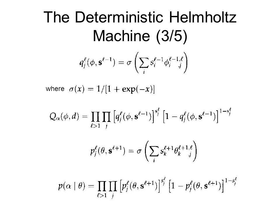 The Deterministic Helmholtz Machine (3/5) where.