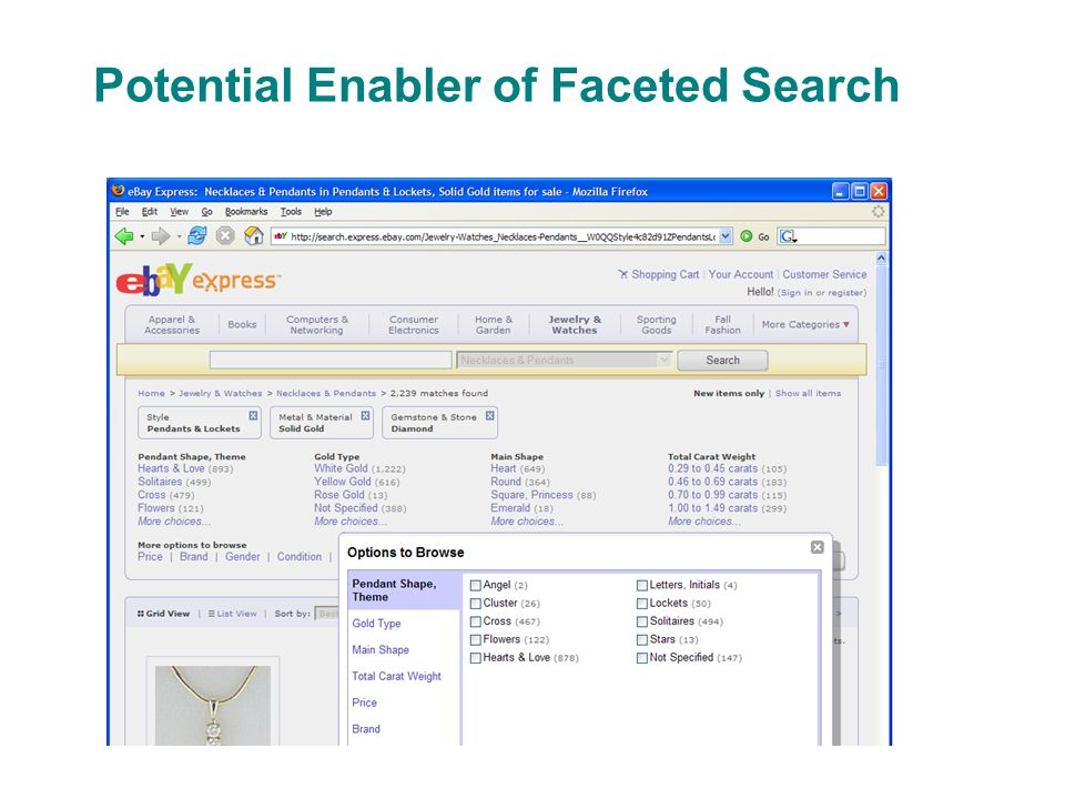 Potential Enabler of Faceted Search