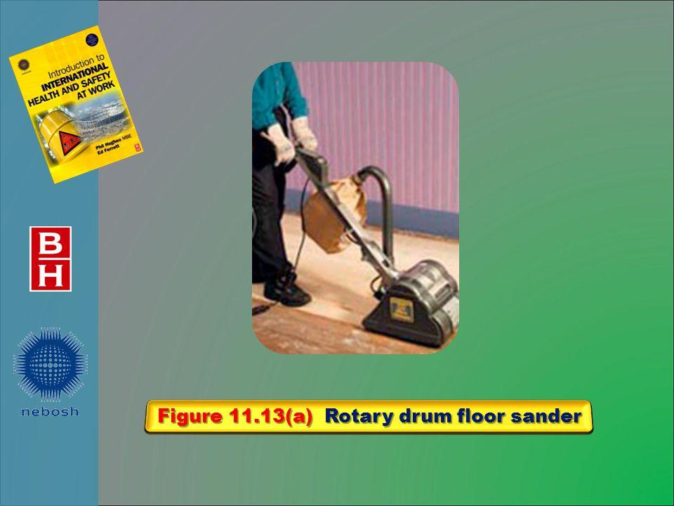 Figure 11.13(a) Rotary drum floor sander