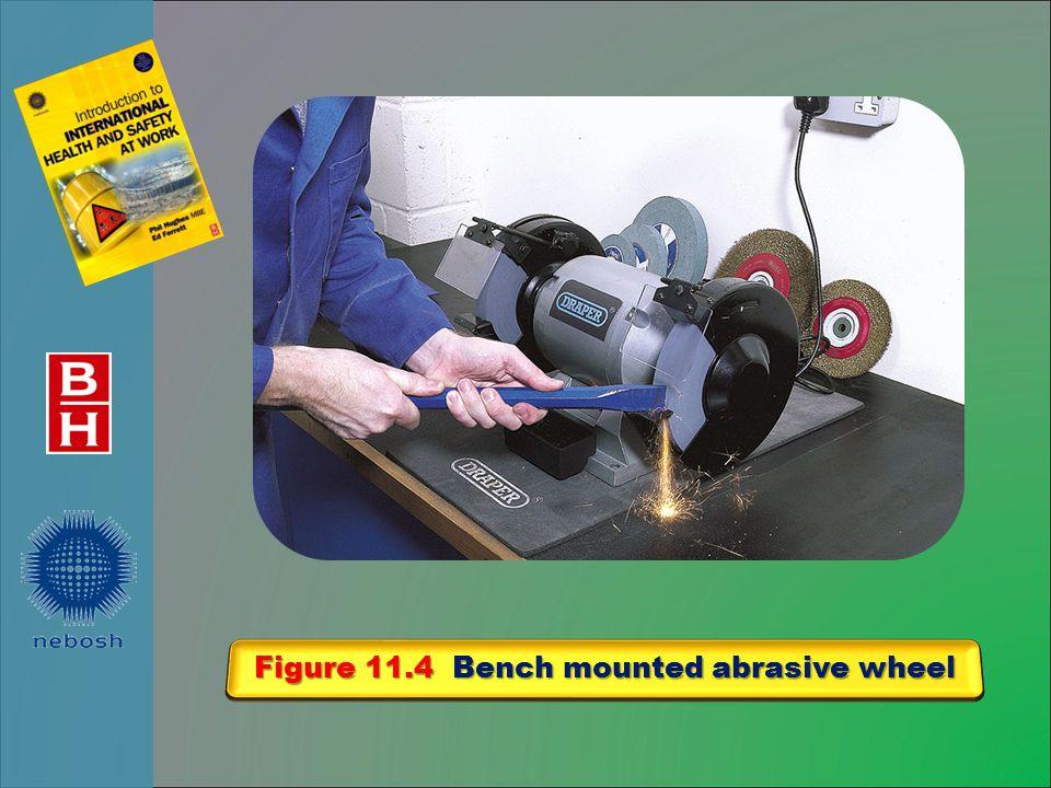 Figure 11.4 Bench mounted abrasive wheel