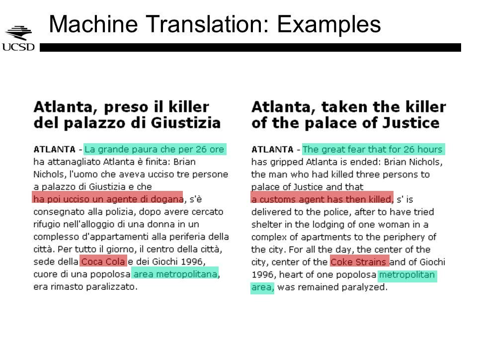 Machine Translation: Examples