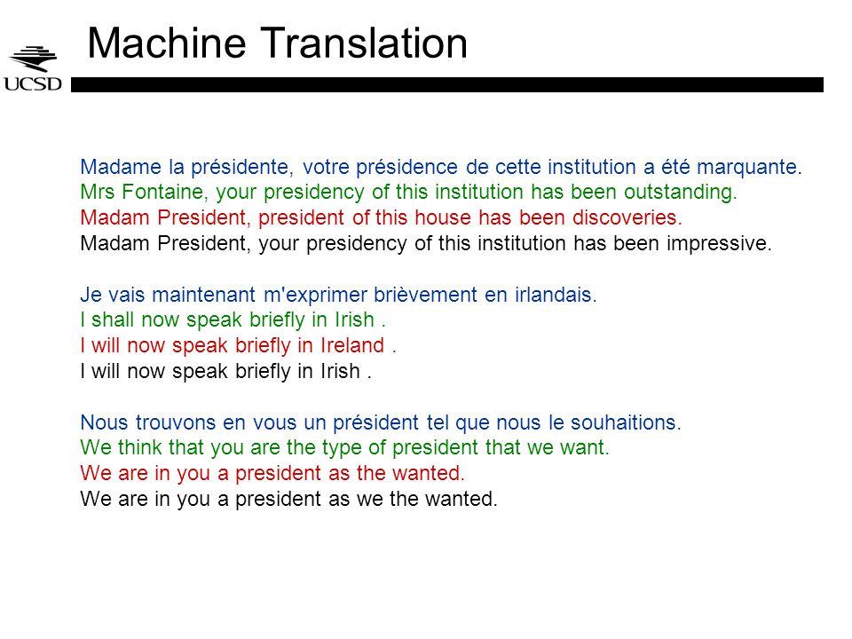 Machine Translation Madame la présidente, votre présidence de cette institution a été marquante.
