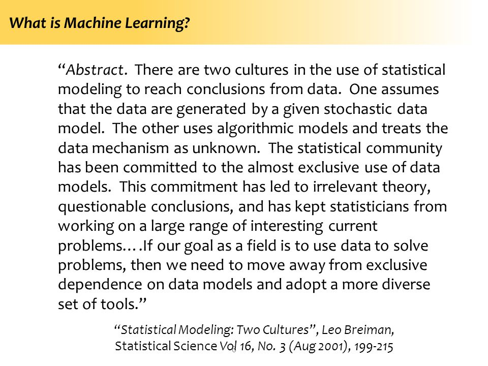 What is Machine Learning.6 Abstract.