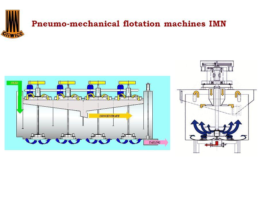 Maszyna jednowirnikowa Maszyna przepływowa wielowirnikowa Pneumo-mechanical flotation machines IMN