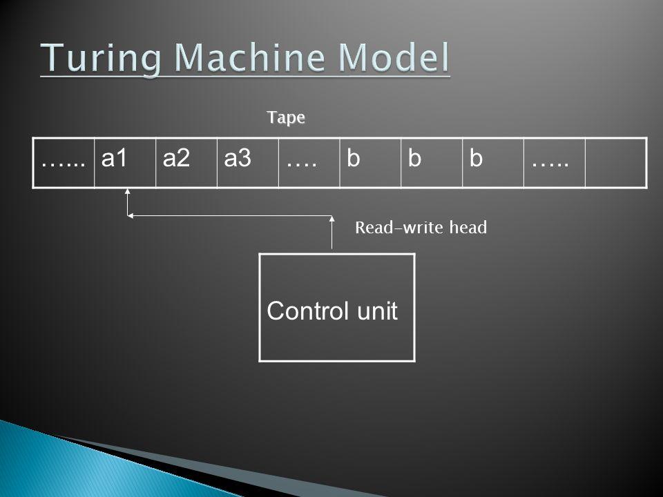 transducers contd… Let M=(Q,Σ,δ,q,B,F) be a Turing Machine.