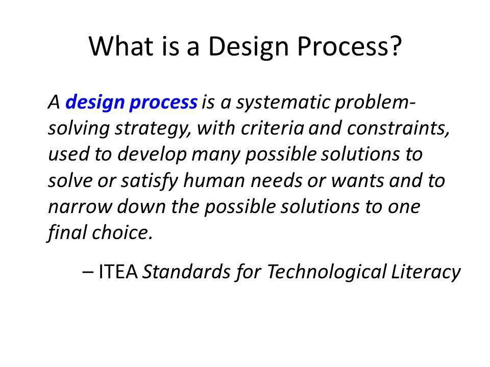 What is a Design Process.