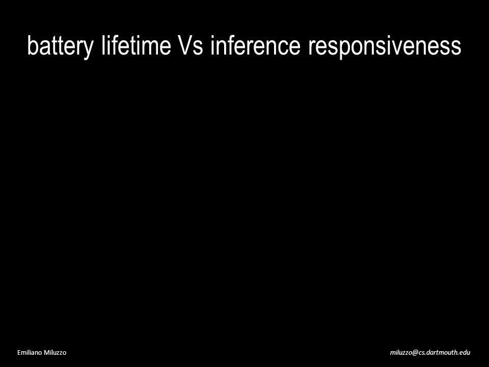 miluzzo@cs.dartmouth.eduEmiliano Miluzzo battery lifetime Vs inference responsiveness