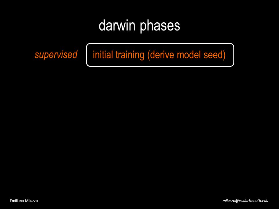 miluzzo@cs.dartmouth.eduEmiliano Miluzzo darwin phases initial training (derive model seed) supervised