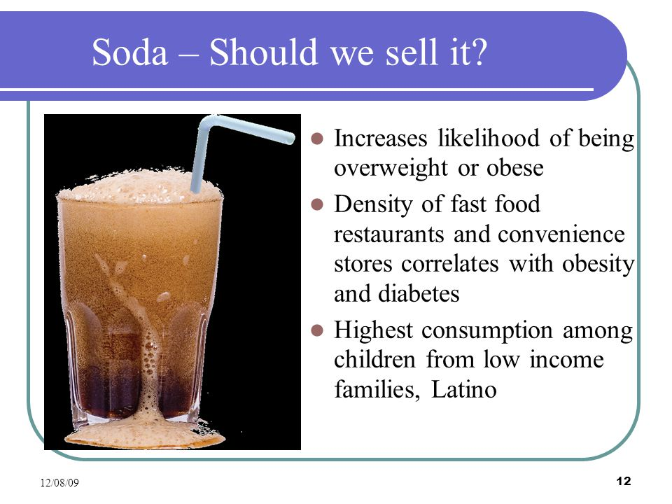 12/08/09 12 Soda – Should we sell it.