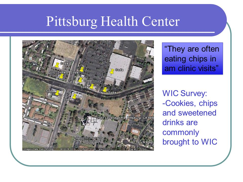 Pittsburg Health Center They are often eating chips in am clinic visits