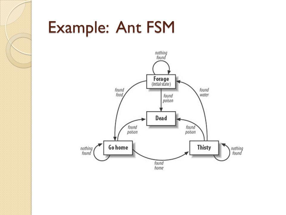 Example: Ant FSM