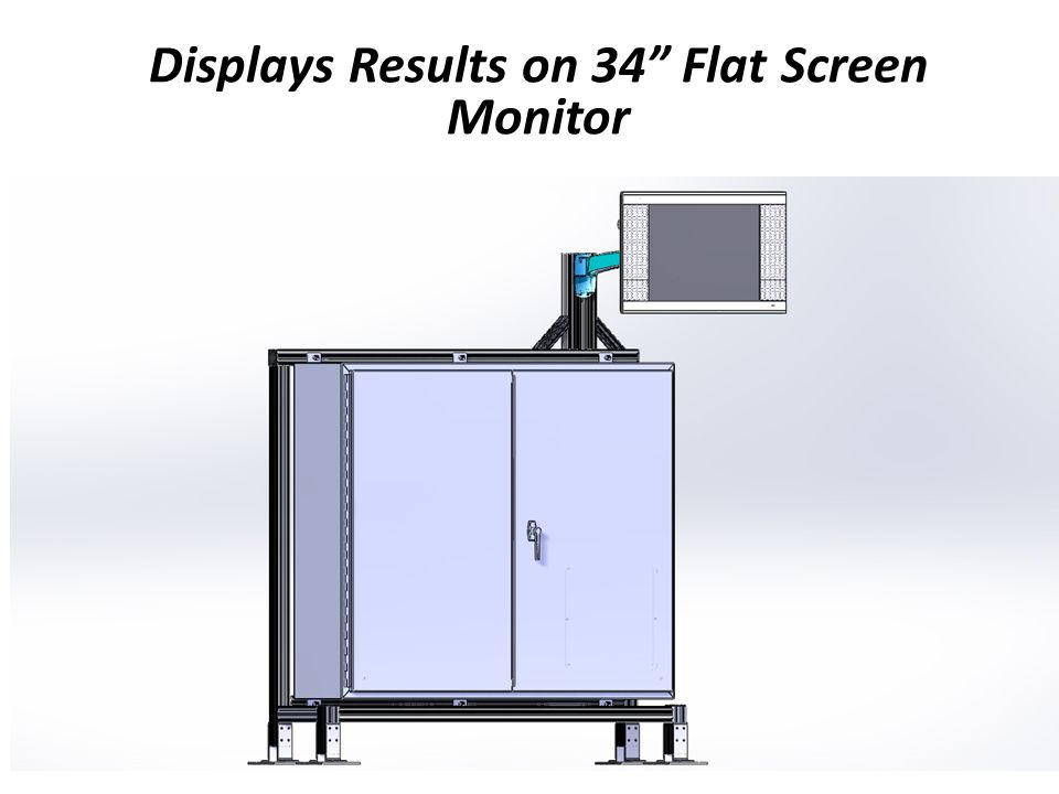 Displays Results on 34 Flat Screen Monitor