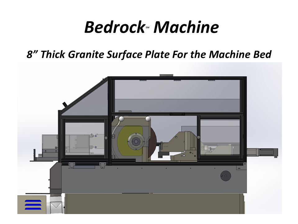 Bedrock Machine 8 Thick Granite Surface Plate For the Machine Bed
