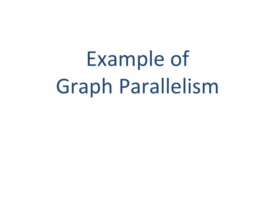 Example of Graph Parallelism