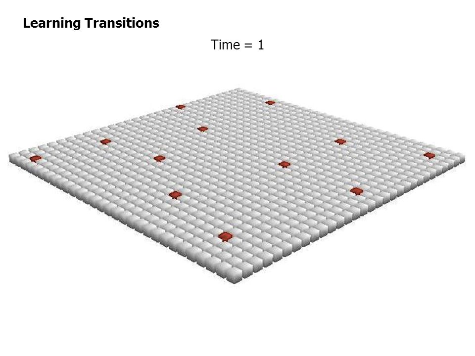 Time = 1 Learning Transitions
