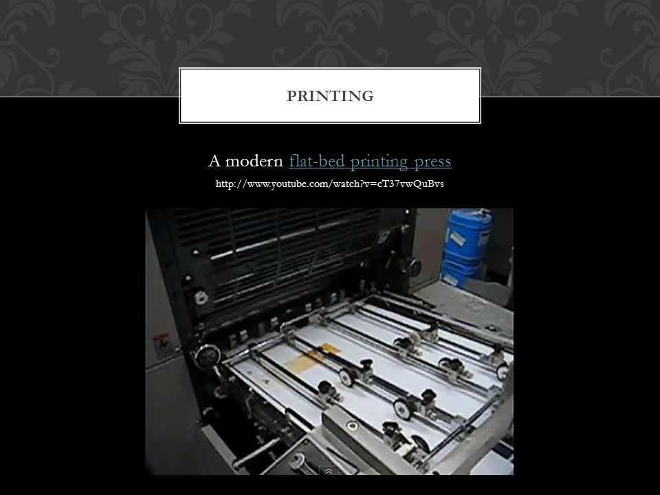 Offset lithography, today the dominant process for mass media printing, dates from the 19 th century.