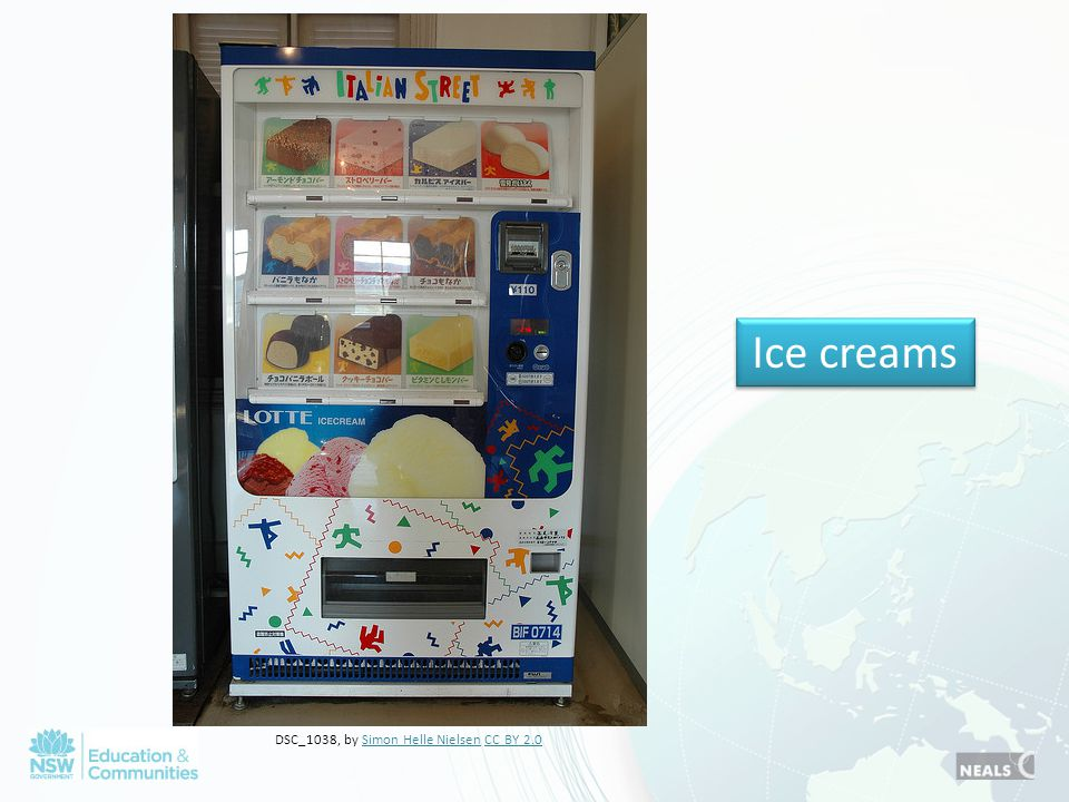 Ice creams DSC_1038, by Simon Helle Nielsen CC BY 2.0Simon Helle NielsenCC BY 2.0