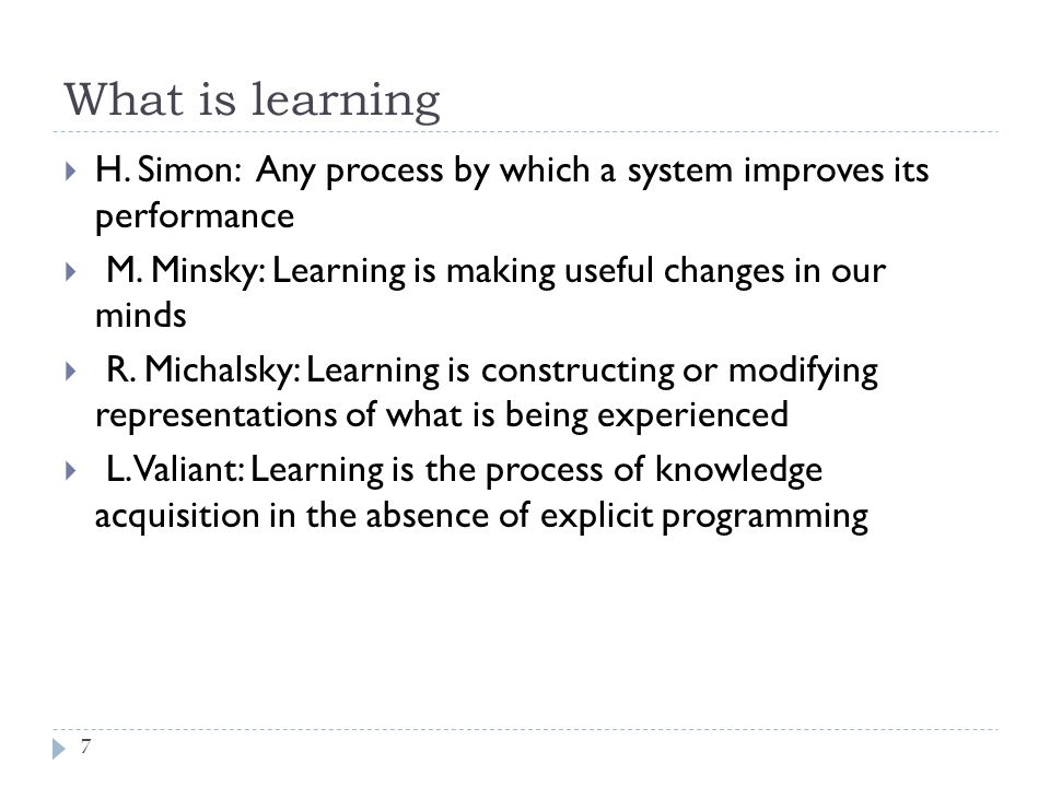 Why Learn .