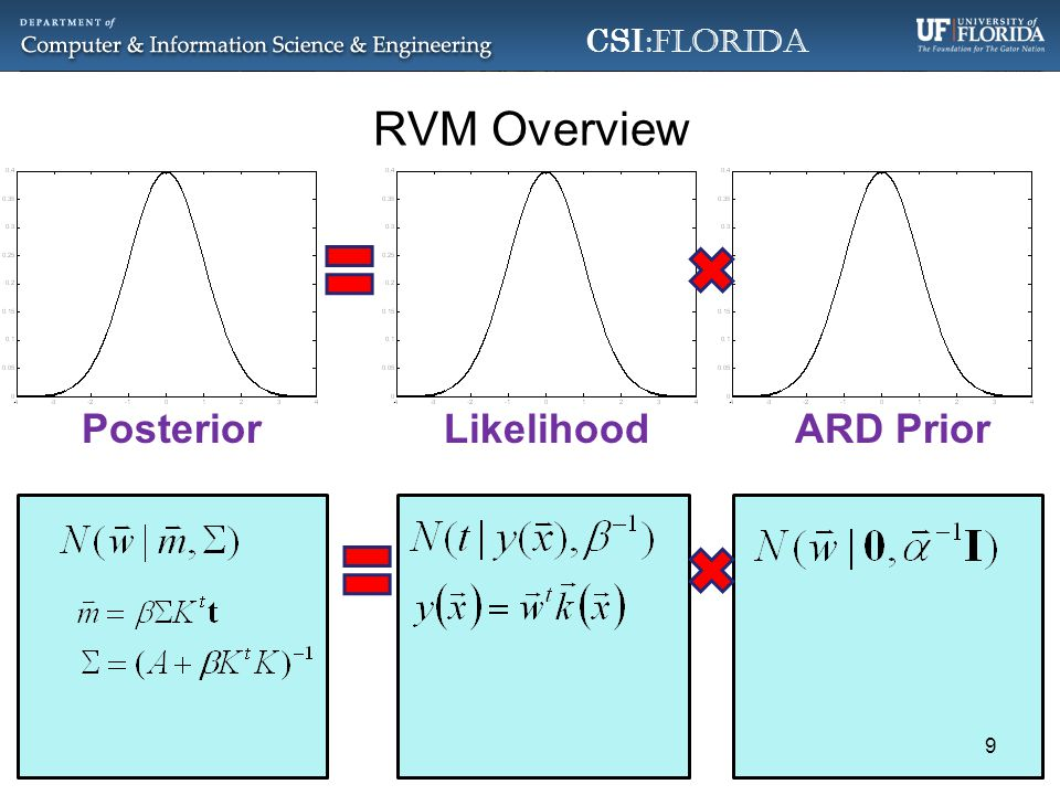 CSI :Florida RVM Overview LikelihoodPosteriorARD Prior 9