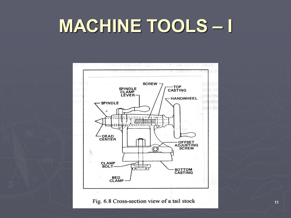 MACHINE TOOLS – I 11