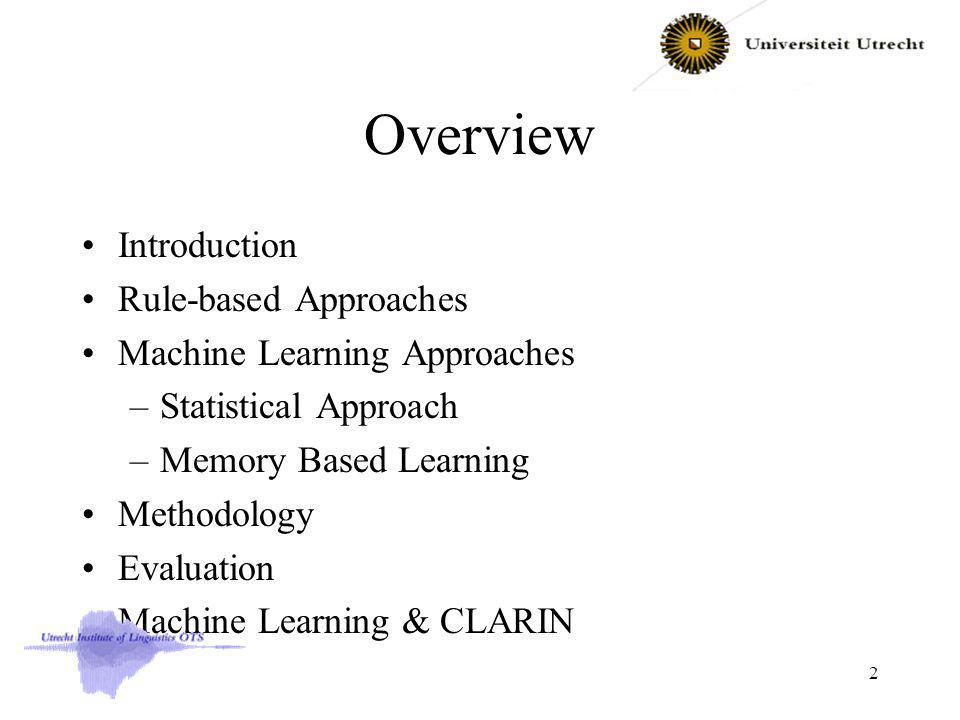 Example Applications Phrase Chunking Results PrecRecF-score NP92.592.292.3 VP91.991.791.8 ADJP68.465.066.7 ADVP78.077.977.9 PP91.992.292.0 53