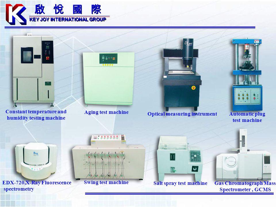 Automatic plug test machine EDX-720,X-Ray Fluorescence spectrometry Salt spray test machine Aging test machine Constant temperature and humidity testi