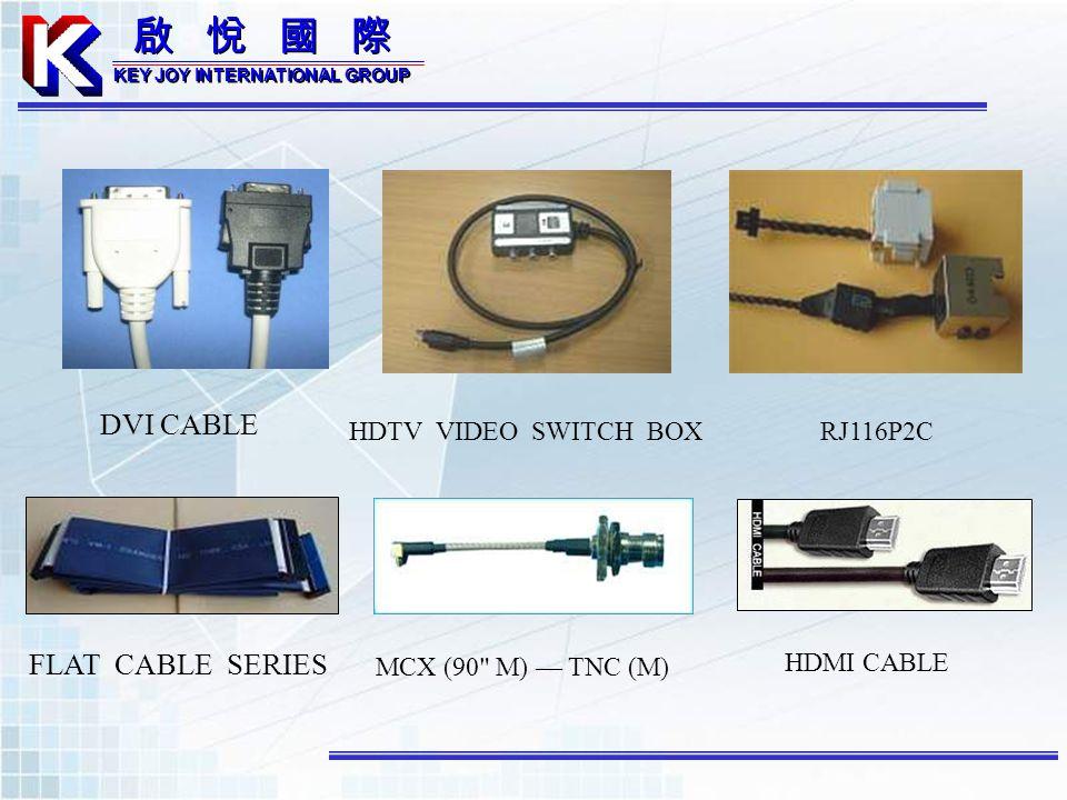 DVI CABLE HDTV VIDEO SWITCH BOXRJ116P2C FLAT CABLE SERIES MCX (90