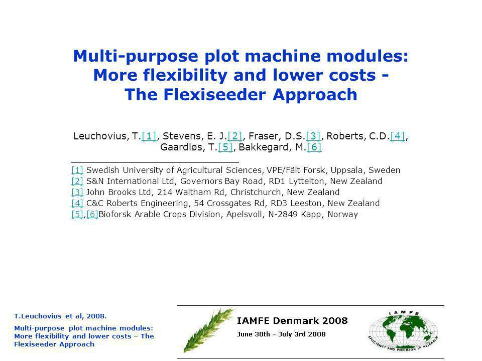 T.Leuchovius et al, 2008.