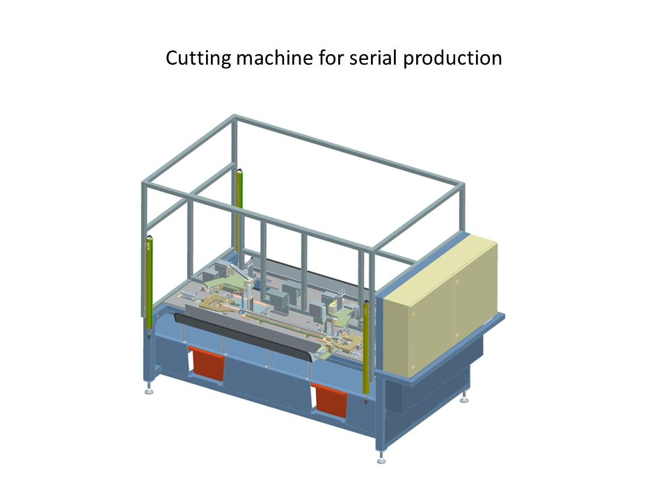Cutting machine for serial production