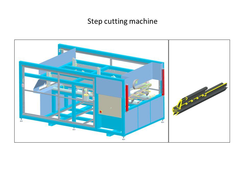Step cutting machine