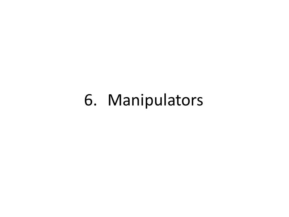 6.Manipulators