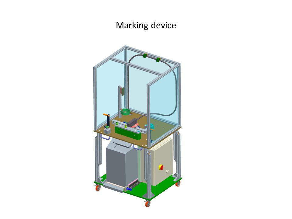 Marking and cutting device for plastic bags