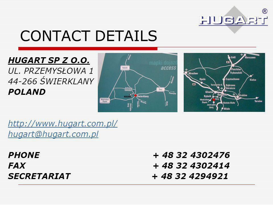 CONTACT DETAILS HUGART SP Z O.O. UL.