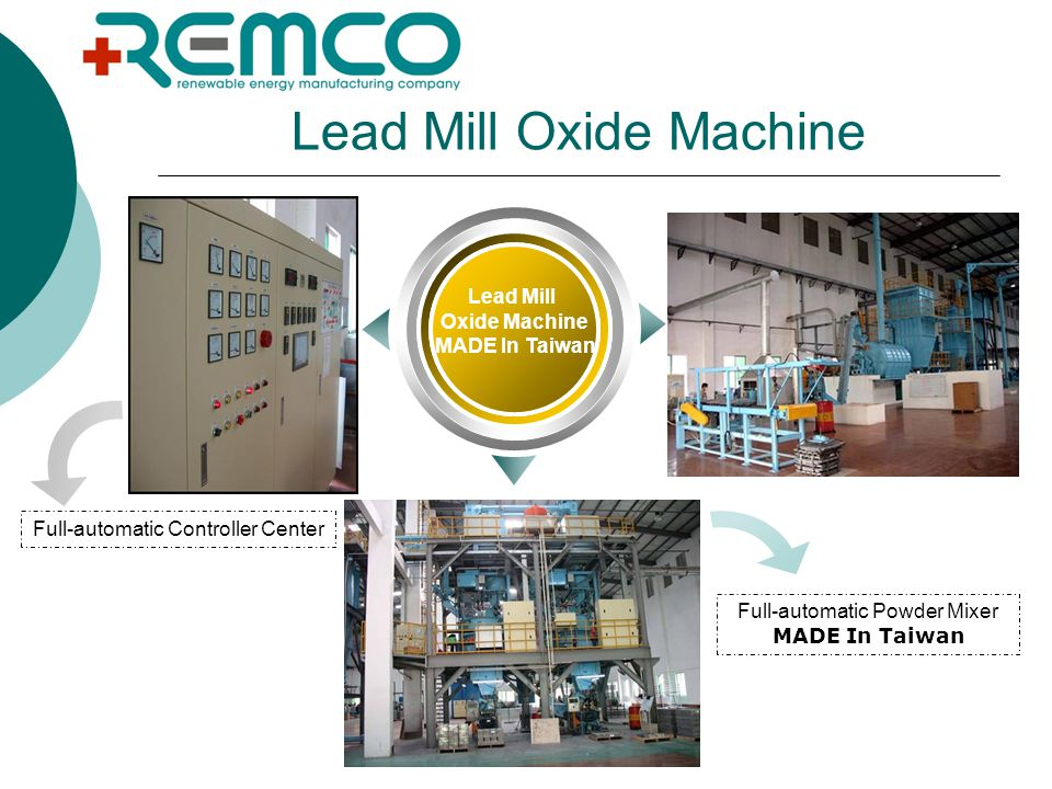 Lead Mill Oxide Machine Lead Mill Oxide Machine MADE In Taiwan Full-automatic Controller Center Full-automatic Powder Mixer MADE In Taiwan
