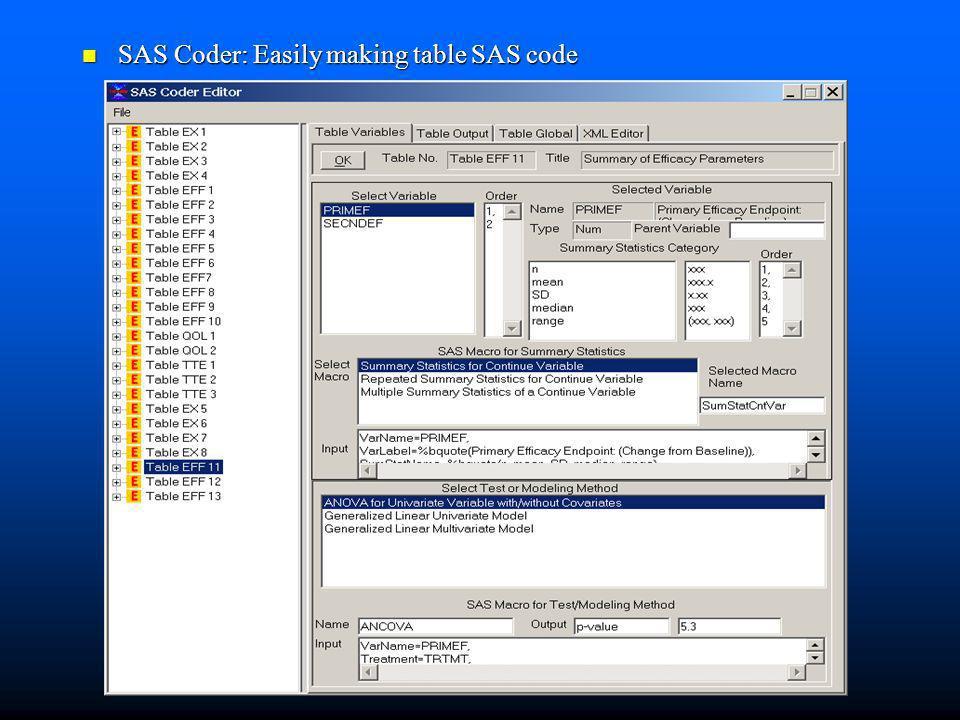 SAS Coder: Easily making table SAS code SAS Coder: Easily making table SAS code