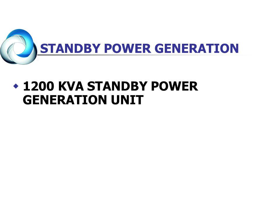 1200 KVA STANDBY POWER GENERATION UNIT STANDBY POWER GENERATION