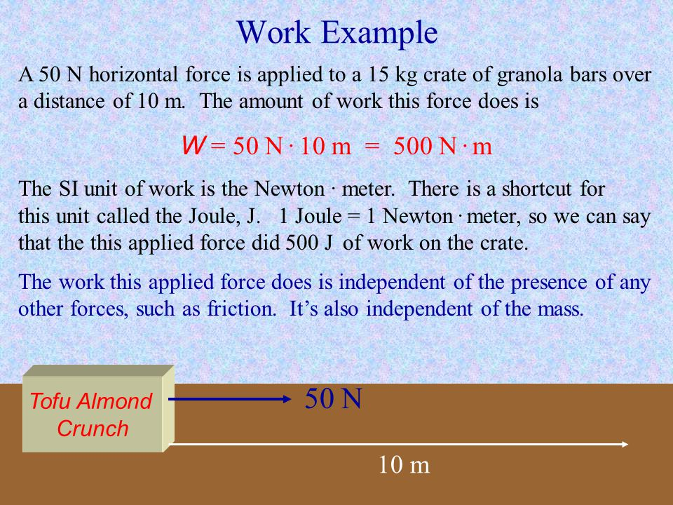 Work and Potential Energy If a force does work on an object but does not increase its kinetic energy, then that work is converted into some other form of energy, such as potential energy or heat.