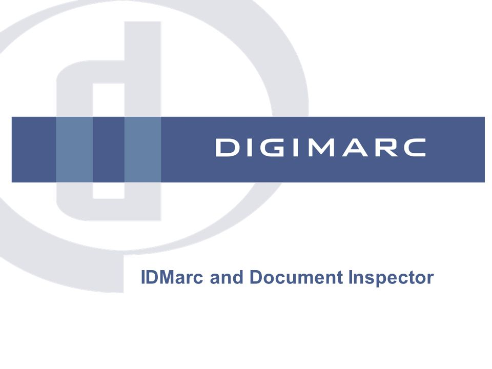 IDMarc and Document Inspector