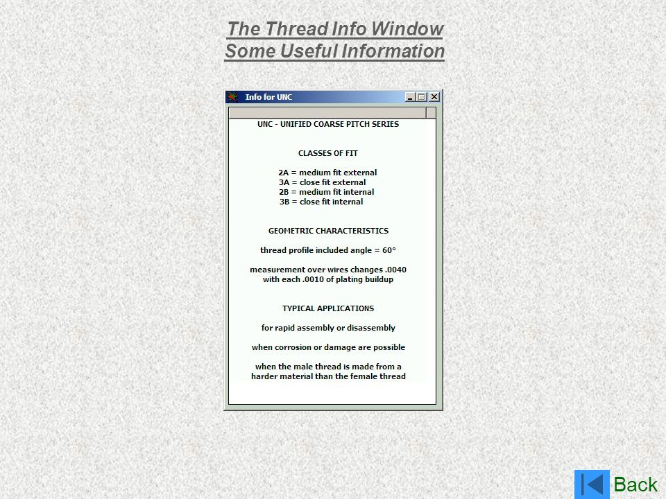 Back The Thread Info Window Some Useful Information