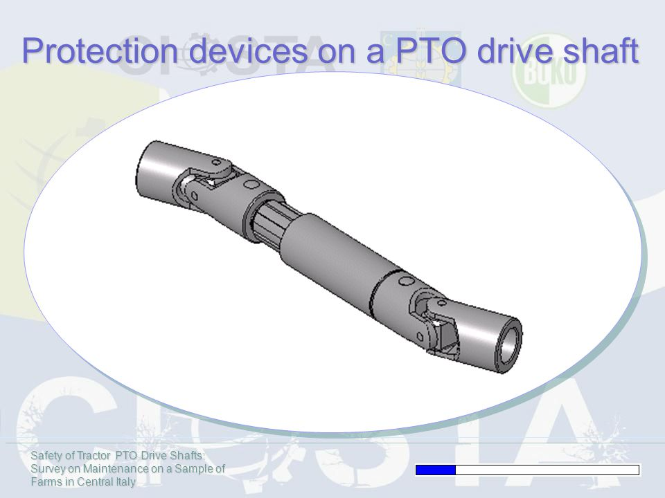 Safety of Tractor PTO Drive Shafts: Survey on Maintenance on a Sample of Farms in Central Italy Protection devices on a PTO drive shaft
