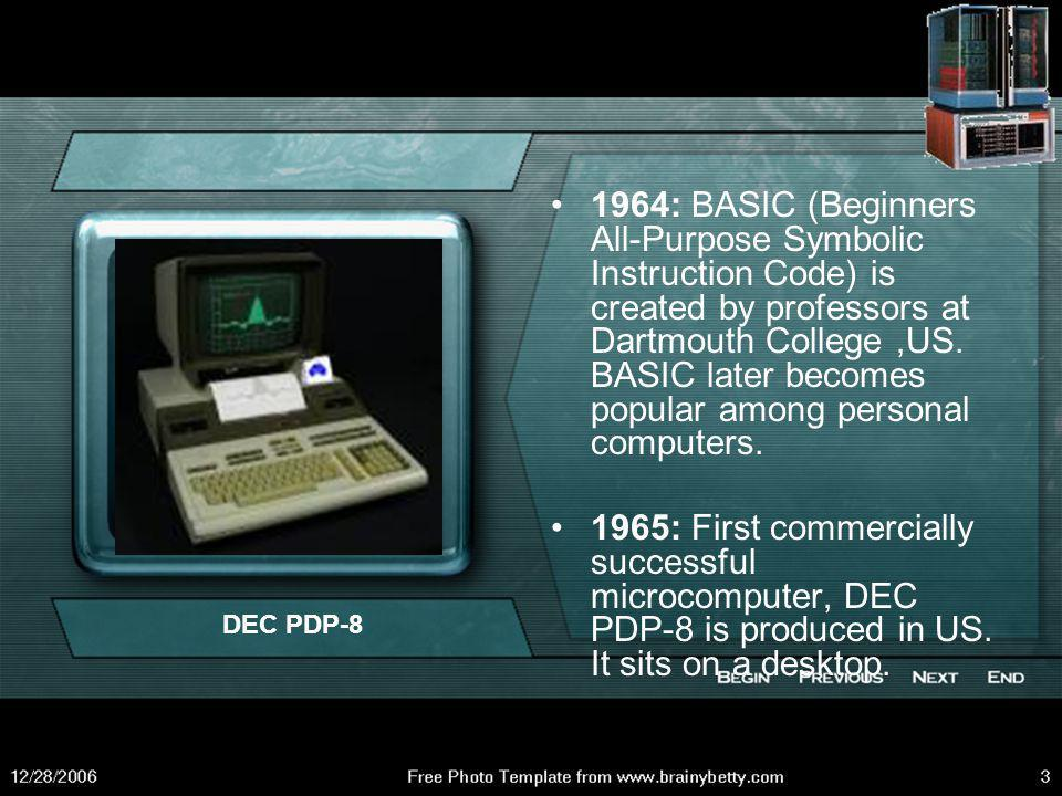 1957:FORTRAN ( Formula Translator) Programming language invented at IBM.