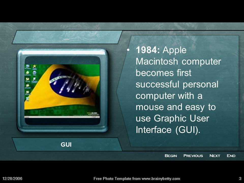 1981: IBM launches IBM PC on the personal computer market.